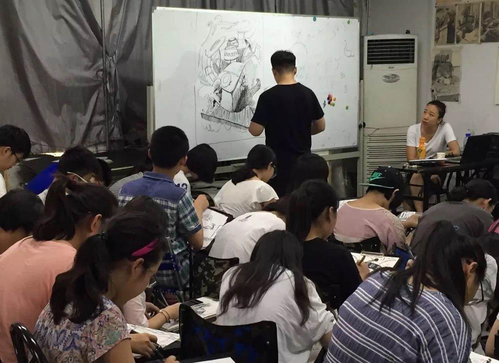 北京服装学院 杜娟教授 北京清美壹佰画室授课 北京画室